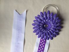 A personal favorite from my Etsy shop https://www.etsy.com/listing/246185960/purple-bow-holder