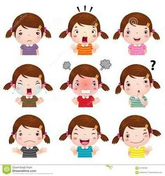 Illustration about Illustration of cute girl faces showing different emotions. Illustration of greeting, kindergarten, laugh - 60785380 Image Emotion, Emotion Faces, Emotions Cards, Feelings And Emotions, English Activities, Toddler Learning Activities, Boy Face, Cute Girl Face, Cute Girls