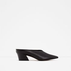 Image 2 of LEATHER MULES from Zara