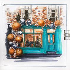 Новогодние витрины это 🧡  #зима_в_городе_2018 #зима_в_городе_2018_витрины  @dariashew thank you for inspiration🙌