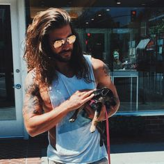 Beards And Mustaches, Trendy Mens Hairstyles, Haircuts For Men, Jack Greystone, Lomg Hair, Tattoed Guys, Hair And Beard Styles, Long Hair Styles, Long Hair Beard