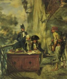 Nelson sealing his letter of truce to the Crown Prince of Denmark- by A. Hms Victory, Naval History, Nautical Art, Napoleonic Wars, Royal Navy, Native American Art, Sailing Ships, Cool Art, Iron Men