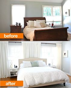 Using Drapes Disguises the Asymmetrical Windows