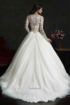 Winter Wedding Gowns Helping to Stay Warm in Cold Weather ~ Amelia Sposa 2015 Wedding Dress [ Amelia Sposa Wedding Dress, 2015 Wedding Dresses, Wedding Attire, Bridal Dresses, Wedding Gowns, Bridesmaid Dresses, Wedding Cakes, Mod Wedding, Lace Wedding