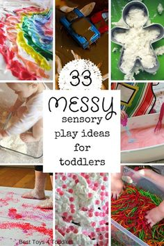 Messy Sensory Play Ideas for Toddlers - awesome hands-on sensory fun activities to explore with toddlers, preschooler and older kids!