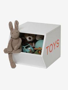 Holz-Aufbewahrungsbox 'Toys' - natur+weiß - 8 Cubes, Toys, Toy Chest, Storage Chest, Dimensions, Bath Towel Decor, Bath Robes, Bed Duvets, Bed Linens