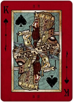 Playing Cards - King Of Spades, REQUIEM Playing Cards Deck by Lorenzo Gaggiotti - playingcards, playingcardsart, playingcardsforsale, playingcardswithfriends, playingcardswiththefamily, playingcardswithfamily, playingcardsgame, playingcardscollection, playingcardstorage, playingcardset, playingcardsfreak, playingcardsproject, cardscollectors, cardscollector, playing_cards, playingcard, design, illustration, cardgame, game, cards, cardist