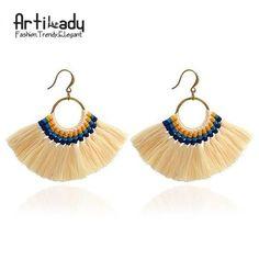 Artilady Boho Tassel Earrings Handmade Long Colorful Drop Earring Women Jewelry Gifts
