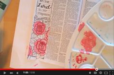Bible Journaling tutorials including drawing, acrylic painting, and basic hand-lettering.