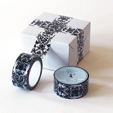 Decorative packing tape... simple and beautiful.
