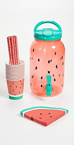 Love this SunnyLife Watermelon Drink Dispenser Party Kit Teenage Party Games, Teenage Parties, Birthday Party Drinks, Watermelon Birthday Parties, Birthday Gifts, Party Kit, Ideas Party, Party Decoration, Craft Party
