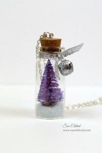 How to make a Christmas Tree in a Bottle Necklace from Sue's Creative Workshop