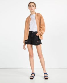 ZARA - WOMAN - SATIN STRETCH BOMBER JACKET