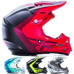 Fly Racing F2 Carbon Pure MX Mens Off Road Dirt Bike Motocross Helmets