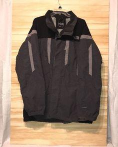 mens north face xl hyvent double zip Jacket Coat gray #TheNorthFace #BasicJacket