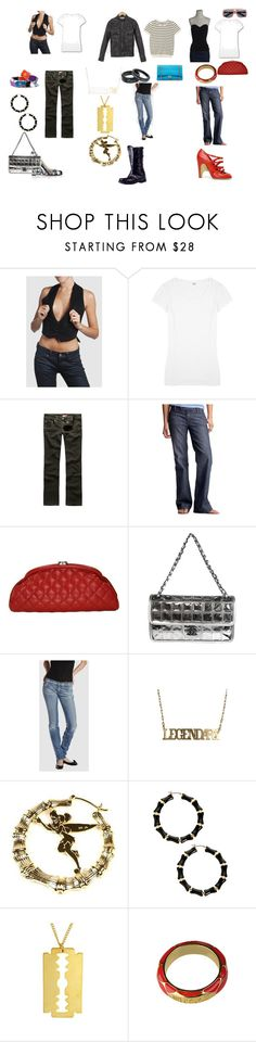 """""""NY sets"""" by lykia ❤ liked on Polyvore featuring Splendid, Dickies, Gap, Chanel, Miss Sixty, GUESS, Roberto Cavalli and Prada"""