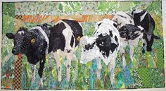 """By amazing quilt artist, Ruth McDowell. This is not raw edge applique - she pieces it all """"right sides together,"""" the traditional way!!"""