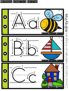 Alphabet Writing Practice, Learn Arabic Alphabet, Alphabet Tracing, Alphabet Cards, Preschool Writing, Preschool Curriculum, Preschool Worksheets, Toddler Learning Activities, Alphabet Activities