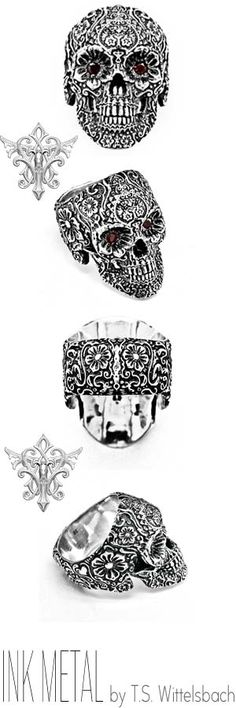 A gift to the living, this folkloric calvera is ornately sculpted and cast in sterling silver – birthstones can also be set into the eyes in commemoration of the dead $548.00