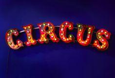 The Conran Shop Journal - Dark Circus, Circus Art, Circus Theme, Art Du Cirque, Vintage Wallpaper, Light Letters, Marquee Letters, Night Circus, Marquee Lights