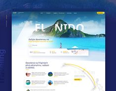 El Nido travel agency from Czechia Web Design, Travel Agency, New Work, Behance, Gallery, Check, Design Web, Roof Rack, Website Designs