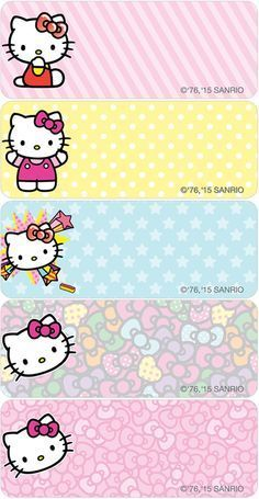 Hello Kitty® Pop Address Labels – My WordPress Website Name Tag For School, Bon Point, Hello Kitty Images, School Labels, Cute Names, Hello Kitty Birthday, Hello Kitty Wallpaper, Cat Party, Printable Labels