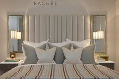 Rachel Winham Interior Design is a leading London-based interior design & interior architecture studio specialising in luxury residential and developer projects. Contemporary Bedroom, Modern Bedroom, Bedroom Decor, Dream Bedroom, Master Bedroom, Luxury Interior, Interior Design, Interior Architecture, Feminine Bedroom