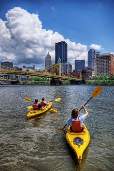 ˚Kayakers On The Allegheny - Pittsburgh