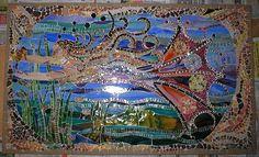 Lagniappe Mosaic - fine mosaic art - mermaid mirabeau