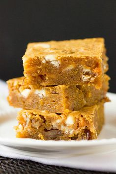 Pumpkin Blondies @Kristen Ortlinghaus these may trump dump cake, mostly because figuring out how to serve it stresses me out. I'll make you your own:)