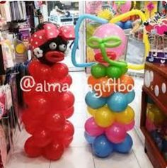 Negrita y marimonda Balloon Decorations, Holidays And Events, Photo Booth, Balloons, Baby Shower, Birthday, Party, Ideas, Male Birthday