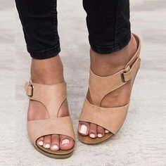 7201073b2da Mule Fashion Wedges For Women Jeweled Sandals