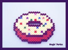 Donut hama perler magnet by magic-perles