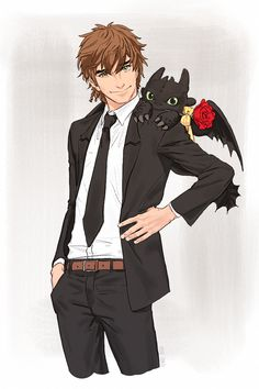 HTTYD fan art: modern Hiccup and pet Toothless ~ oh, love! Httyd Dragons, Dreamworks Dragons, Disney And Dreamworks, Hiccup And Toothless, Hiccup And Astrid, Jack Frost, Cartoon Network, Dragon Rider, Film D'animation