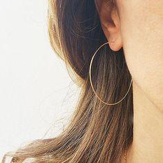 aa4b4bd10 Handmade Thin Hoops extra Large hoop earrings Wire Earrings minimalist  lightweight #earringsforwomen #hoopearrings