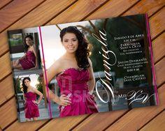 Quinceañera Invitation Digital File by MDesignsbyMonica on Etsy, $15.00