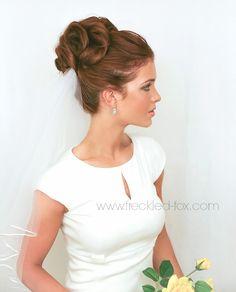 WEDDING HAIR WEEK: High Curly Bun   by emily meyers