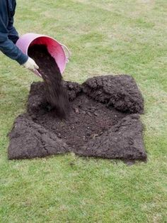 Create a level lawn and prevent future problems with this step-by-step landscaping guide from HGTV.  #LandscapingIdeas