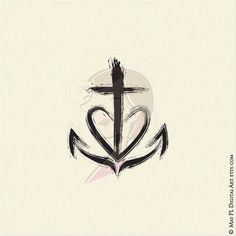 Christian Clipart Symbols Church Cross Equals Love Faith Hope Love Holy Spirit Fish Salt And Light. Faith Hope Love Tattoo, Faith In Love, Hope Tattoo Symbol, Faith Hope Love Symbol, Anchor Tattoos, Love Tattoos, Tatoos, Faith Tattoos, Music Tattoos