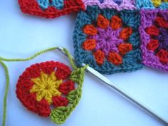 How to assemble granny squares as you go, so you don't have to assemble them later.