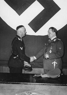 HISTÓRIAS DO NAZISMO. # Hermann Göring & Heinrich Himmler. Göring nomeando Himmler para a Direção da GESTAPO.
