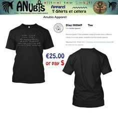 Another Awesomely cool Premium Quality #TShirt with unique Anubis Apparel(c) design #ufc #natediaz #conormcgreggor #fashion #motherfucker #cool