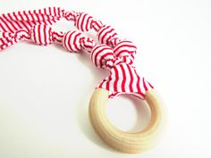 Red and White Striped Valentines Beaded Nursing by RubyRebels, $16.00