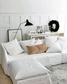 Are you looking to brighten up a dull room and searching for interior design tips? One great way to help you liven up a room is by painting and giving it a whole new look. Home Decor Inspiration, Home And Living, Interior Design, Living Room Decor, Home, Interior, White Linen Sofa, Living Room Furniture, Room
