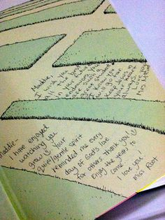 I picked up a copy of Dr. Suess's Oh, The Places You'll Go and I've had each of her preschool teachers (two teachers from her two years there) sign the book.  I plan on doing it with every teacher, each year, and what an awesome gift it'll be when she graduates!  What a great idea! I wanna do this!