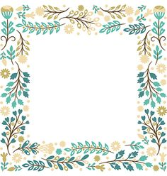 Floral frame vector by Lenlis on VectorStock® Frame Border Design, Page Borders Design, Islamic Art Pattern, Canvas Painting Tutorials, Quilt Labels, Watercolor Images, Borders And Frames, Doodle Designs, Embroidery Patterns Free