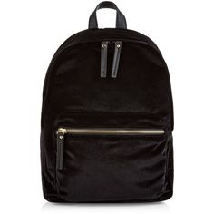 New Look Black Velvet Pocket Front Backpack (620 UAH) ❤ liked on Polyvore featuring bags, backpacks, black, daypack bag, pocket backpack, day pack backpack, knapsack bag and zip top bag
