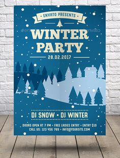 Christmas  New Year Flyer  Flyer Template Ai Illustrator And