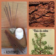 Encens parfum bois de cèdre en bâton aux Huiles essentielles naturelles - pochette de 10 bâtons de la boutique A2ATOMES sur Etsy