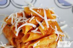 Macarrones sin gluten con atún y tomate - http://www.mycookrecetas.com/macarrones-sin-gluten-con-atun-y-tomate/